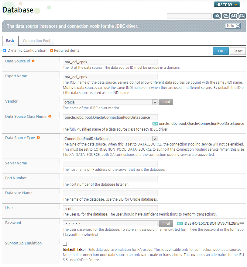 Appendix B  JDBC Data Source Configuration Examples