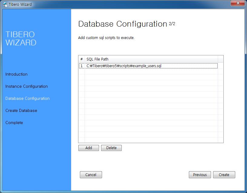 User Defined SQL