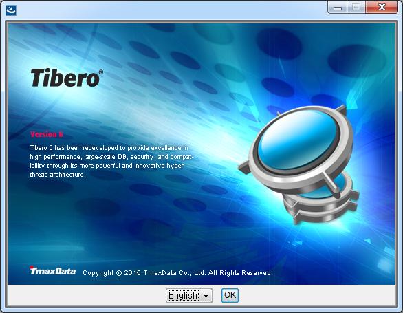Tibero Installer Installation Language Screen